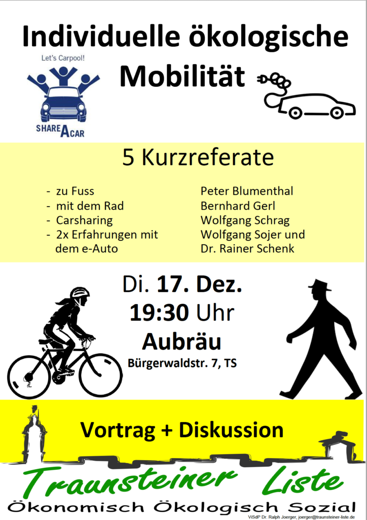 Vortrag: Ökologische Mobilität @ Aubräu