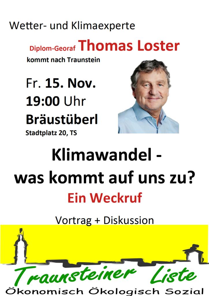 Vortrag Klima: Thomas Loster @ Bräustüberl Hofbräuhaus